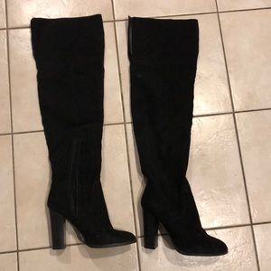 Shoes - Black tall over the knee boots